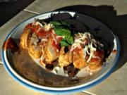 SmokingPit.com - Chicken Parmesan Rolls with Marinara - Yoder YS640