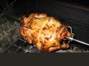 Grilling chicken on a rotisserie is the easiest way to make delectable chicken