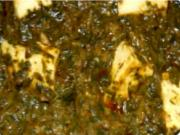 Palak Paneer or Saag Paneer (Spinach Curry)