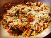 Fusilli with Stir Fried Beef and Vegetables