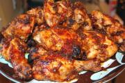 Garlic Flavored Barbecued Chicken