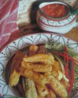 Monster Fingers with Blood Sauce