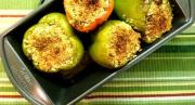 Green Peppers Stuffed With Mashed Potato Salad