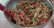 Healthy Pasta Salad with Chicken (or not)