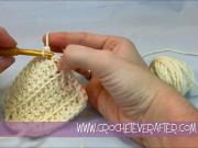 Left Hand Double Crochet Tutorial #14: DC in the Front Loop Only