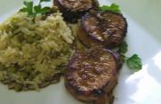 Chef's Special Pork Tenderloin Medallions with Black Berry Brandy Sauce