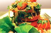 Grilled Eggplant Tomato Salad