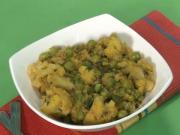 Masala Cauliflower and Green Peas Subzi