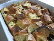 Strata with Dried Plum, Bacon and French Bread