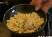 Bacon Onion Farfalle Pasta