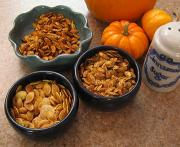 Pumpkin seeds are a great snack, especially when roasted and spiced up with a few basic spices.