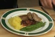 Seared Pork with Apple Cranberry Chutney in a Fine Herbs Sauce