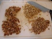 Cutting nuts.