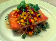Seared Salmon With Fresh Mango Relish