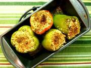 Soya Stuffed Roasted Bell Peppers