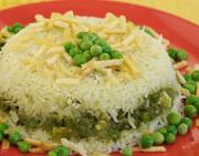 Baked Rice With Green Curry by Tarla Dalal