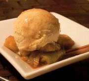 Vanilla and Cinnamon Ice Cream with Nutmeg Spiced Apples