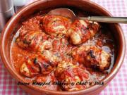 Bacon Wrapped Chicken with Tomato Basil Sauce