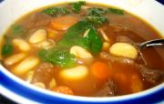 Hearty Spinach White Bean Soup