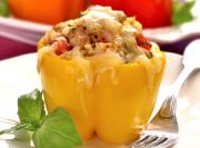 Quick and Easy Quinoa Stuffed Bell Pepper