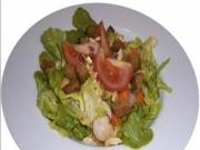 Salat mit Tomatenpesto Rezept - Karotten, Radieschen, Vegan