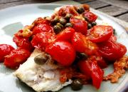 Plaice With Tomato And Caper Sauce
