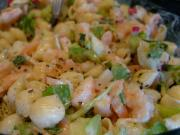 Curried Macaroni Salad  with Fresh Shrimp