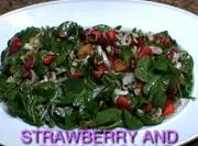 Hot And Sweet Strawberry And Spinach Salad