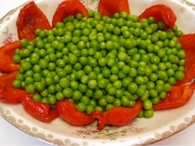 Betty's Roasted Red Peppers and Steamed Green Peas