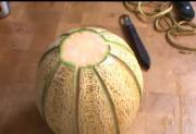 How to Carve a Cantaloupe Basket?