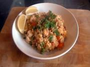 Speedy Chicken, Chorizo & Shrimp Paella
