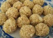 sesame seeds and jagerry ball