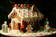 Gingerbread houses are great for eating, as well as storing for posterity