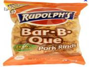 Rudolph's Barbecue Flavored Pork Rinds with Macaroni and Cheese