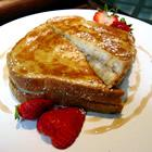 Banana & walnut stuffed french toast