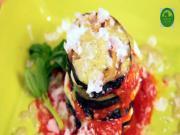 Grilled Eggplant Napoleons W Spicy Tomato Chutney