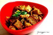 Simple Bread & Salami Salad (Indian Upma Inspired)