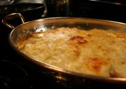 Chicken Gratin with Onion Sauce and Gruyere