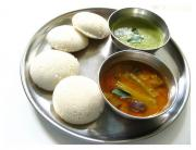 Idli with sambhar - lunch or dinner tamil menu