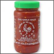 Chili garlic sauce to be served with kebab