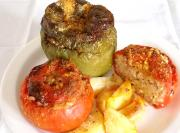 Bell Pepper Stuffed Quinoa with Mint Sauce Part 1 - Preparing the bell pepper and Quinoa