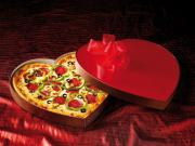Valentines' Day Heart Shaped Pizzas