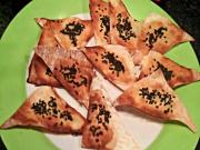 Black Sesame Wonton Crackers