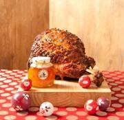 Whiskey baked ham for Christmas