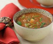 Eggplant and lentil soup is a great soup to serve this winter.