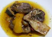 Baked Lamb with Mushrooms Peppers and Onion