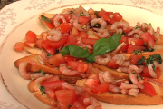 Easy Shrimp Bruschetta
