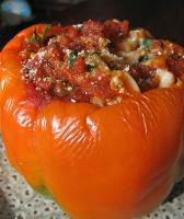 Parsley & Sausage Stuffed Tomatoes