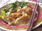 Dumplings with hot and sour sauce