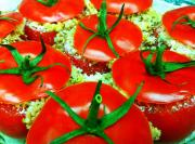 Minted Rice Stuffed Tomatoes